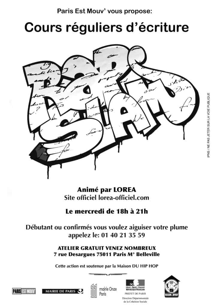 flyer atelier rap slam